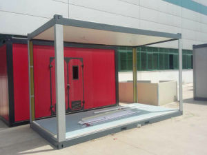 20FT Good PU Foam Sandwich Panel Container House with Solar panel pictures & photos