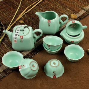 Celadon Large-Capacity Hot Selling China Kung Fu Tea Set (Ry003)