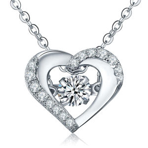 Heart Shape 925 Silver Pendants Dancing Diamond Jewelry pictures & photos