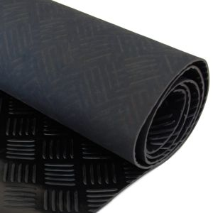 Waterproof Anti Slip Non Skid Corrugated Outdoor Rubber Grid Matting pictures & photos