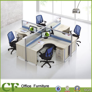 Classic Design Cross Shape Office Table Partition pictures & photos