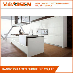 Modern White Color China Lacquer Kitchen Cabinet pictures & photos