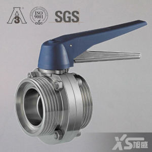 Stainless Steel Sanitary Ss304 Thread Butterfly Valve pictures & photos