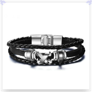 Fashion Jewelry Leather Jewelry Leather Bracelet (LB316)