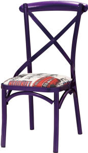 Multi-Color Restaurant Dining Industrial Metal Chair (FOH-BCC28) pictures & photos