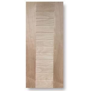 High Quality Dark Wailut/Natural Sapelli Veneered HDF Door Skin pictures & photos