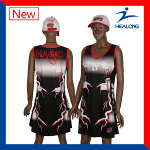 Healong Hotsale Fully Sublimated ODM Netball Suit pictures & photos