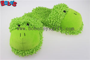Non-Slip Women Shoe Plush Stuffed Soft Frog Animal Home Slippers pictures & photos