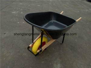 100L Big Plasic Tray and PU Foam Wheel Wheelbarrow pictures & photos