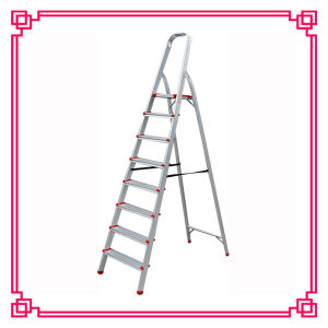 Aluminum Household Step Ladder with Workshelf and Tread pictures & photos