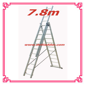 3 Section Extension Ladder 7.8m (DLE311) pictures & photos