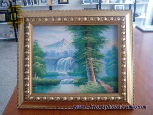 Solid, Beautiful and Artistic Wood Painting Art Frame (APF14004)