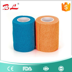 Athletic First Aid Medical Ankle Care Self Adhesive Bandage Gauze Tape Green pictures & photos