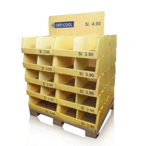 Retail Cardboard Display Grid Unit, UV Coating Display Stand, Pop Pallet Display Racks pictures & photos