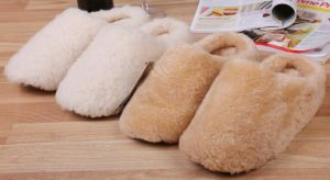 Casual Men Shoes Sheepskin Floor Slipper in Sand pictures & photos
