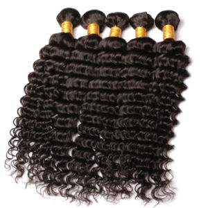 100% Human Hair Deep Wave Curly Brazilian Virgin Hair pictures & photos