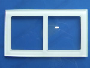 Silkscreen Printing Colorful Tempered Glass Switch Panel Switch Plate pictures & photos