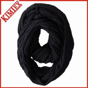 Winter Warm Colorful Acrylic Knitted Infinity Scarf pictures & photos