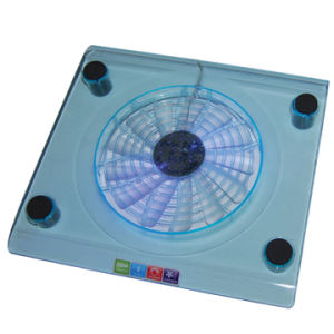 Single Fan Cooling Pad with LED Light Style No. CF-102 pictures & photos