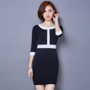 Bulk Classic Slim Fit Style Formal Ladies Designs Office Dress pictures & photos