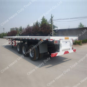 China Factory Sale 60 Tons Tri-Axle Flatbed Semi Trailer pictures & photos