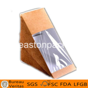 Eco Friendly Disposable Triangle Bigger Sandwich Packaging with Window pictures & photos