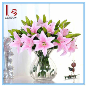 Wedding and Home Decorative Artificial PVC Silk Lily Flowers pictures & photos