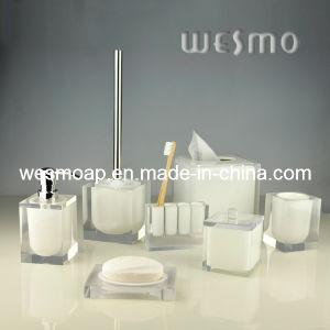 Transparent Polyresin Bathroom Set (WBP0201A) pictures & photos
