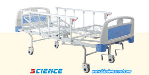 Cheap Price Manual Hospital Bed with Two Functions pictures & photos