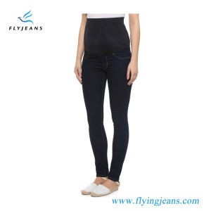 Good Quality Garment Factory Lady Maternity Denim Jeans (EP922) pictures & photos