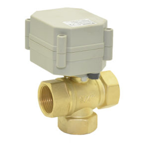 """3way 3/4"""" Brass Motorized Valve T20-B3-a pictures & photos"""
