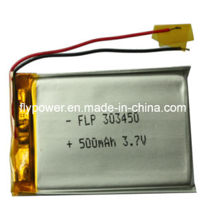 3.7V 500mAh Lithium Ion Polymer Battery Pack (1S1P of FLP-303450)