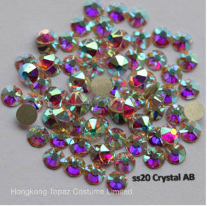5A New Facted 8 Big 8 Small Ss20 4.8-5.0mm Crystal Ab Nail Art Glue on Non Hotfix Rhinestones (FB-SS20 crystal ab/5A) pictures & photos