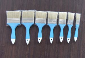 Wooden Handle Paint Brush (633) with White Bristle Material pictures & photos