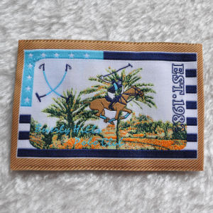 High Quality Woven Label/Weaving Fabric Made of 9 Colours of Yards pictures & photos