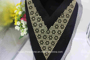 Rhinestone Appliques Mesh Glass Stone Beads Appliques for Collar (TA-027) pictures & photos