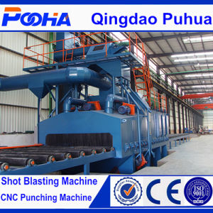 The Newest Q69 Series Steel Plate Shot Blast Clean up Machine/Wheel Blasting Machine for Steel Pipe/Surface Derusting pictures & photos
