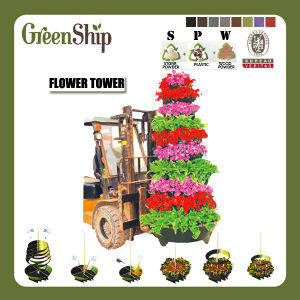 Round Stand Flower Planter Tower