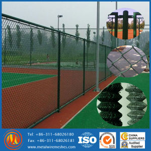 Coated Chain Link Fence for Stadium / Steel Wire Mesh Fence