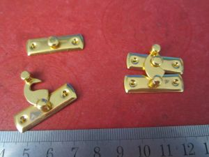 Custom Made Metal Gold Color Box Latch/Locks