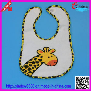 Baby′s Embrodered Bib with Animal Pattern pictures & photos