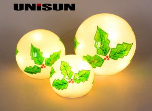 Christmas Decoration Light Glass Craft with Copper String LED Light for Wall Art (18008) pictures & photos