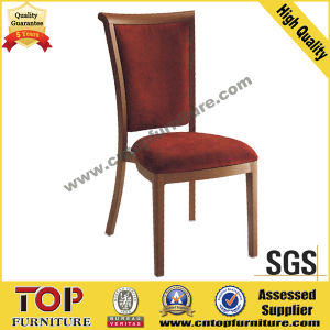 Metal Red Fabric Wood Grain Chair pictures & photos