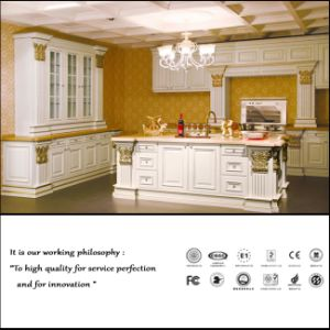 New Style UV Wood Grain Kitchen Cabinet (ZH177) pictures & photos