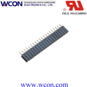 2.54mm Single Row H=7.0 Straight Machined Female Header pictures & photos
