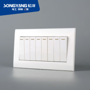 PC White Series 8gang Wall Switch