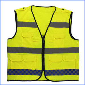 High Quanlity Light-Reflecting Waistcoat with Pocket pictures & photos