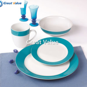 China Supplier All Types Elegant Round New Bone China Dinner Set pictures & photos