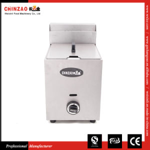 Countertop Gas Fryer Single 5.5L (CHZ-10L) pictures & photos