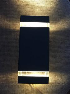 Decorative Aluminum Body Toughened Glass LED Outdoor Wall Pack Light pictures & photos